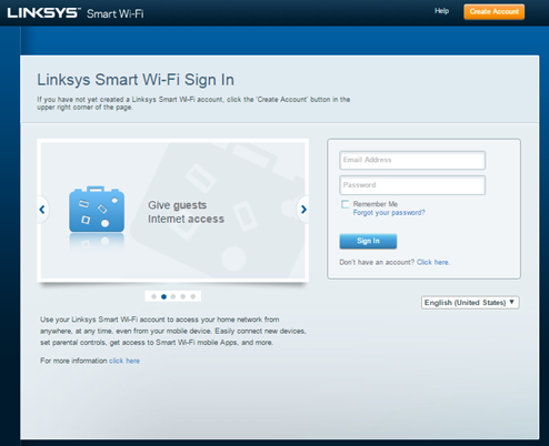 linksys cloud account